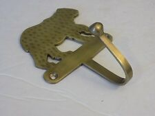Vintage brass wall mount bear hook