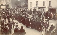 Procession Band RP pc used 1905 Crediton postmark