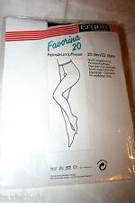 80er Jahre Ergee Favorina Nylons Strumpfhose Gr. 48 Rauch 20Den Vintage Strümpfe
