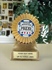NEW POKER AWARD TROPHY HOLD EM POKER CARDS TROPHIES 1ST PLACE MRF11C,B,A