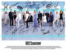 GREYS ANATOMY FULL CAST AUTOGRAPHED 8x10 RP PHOTO BY 14 GREY'S