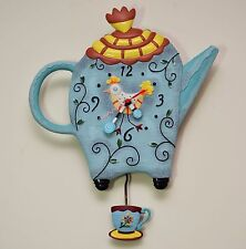 TEAPOT - BEAUTIFUL WALL CLOCK WITH PENDULUM