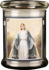 VIRGIN MARY OUR LADY LED LIGHT GLASS JAR CANDLE - STATUES & PICTURES ALSO LISTED