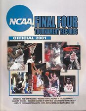 2001 OFFICIAL NCAA FINAL FOUR TOURNAMENT BASKETBALL RECORDS BOOK