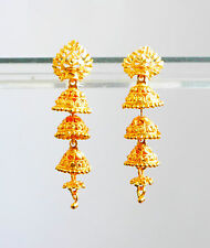 india 18k Yellow Gold Filled  hoop KUNDAL DROP Womens party  Earrings UA13