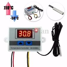 220V 10A Digitale LED Temperatura Controller Termostato + Interruttore Sonda New