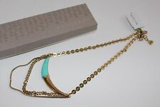 Silpada Swarovski K&R collection gold horn turquoise Necklace NEW