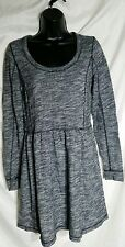 """Saturday Sunday Anthropologie Gray """"Deana"""" Dress Size Small Striped Fit & Flare"""