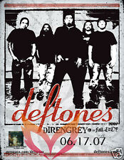DEFTONES / DIR EN GREY 2007 MINNEAPOLIS CONCERT TOUR POSTER - Metal Rock Music