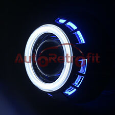 White/Blue Dual Halo Shrouds, for 2.5'' Projectors Only! Dual LED COB Angel Eyes