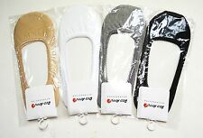 Womans 4 pair COTTON SPANDEX No Show Foot Liner/ cotton socks for flat shoes