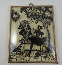 "Vintage Silhouette Reverse Painted Bubble Glass Ballerina & Performer 4"" x 5"" #2"
