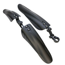 BIKE BICYCLE CYCLE BLACK FRONT AND REAR MUDGUARDS