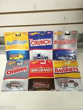 Set Of 6 Hot Wheels Pop Culture NESTLE NEW 2016 BabyRuth,Butterfinger,Crunch