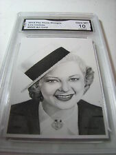 LOIS LINDSAY THE THREE 3 STOOGES 2014 CHRONICLES ART CARD # NNO GRADED 10