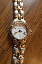 Krug Baumen Regatta Ladies white face Dial Watch with two tone strap