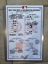 BRYCE HARPER 1ST WALK OFF(12TH INNING) OFFICIAL LINE UP CARD-1/1 HARPER-MLB HOLO