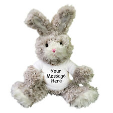 Personalized Stuffed Rabbit - 13 inch Fuzzy Plush Easter Bunny