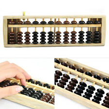 Black Brown Bead Japanese School Calculation Soroban Wood Abacus EDUCTAIONAL