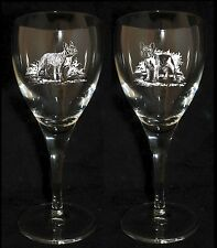 FRENCH BULLDOG GIFT - Boxed PAIR WINE GLASS *DOG GIFT*