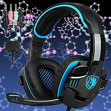 SADES Professional Gaming Headphones Headset Surround USB Vibration Microphone