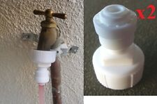 """2 units 3/4"""" Garden / Laundry hose adapter connect to 1/4 """" RO tube"""