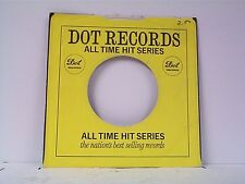 3-DOT ALL TIME HITS  COMPANY 45's SLEEVES  LOT # A-730