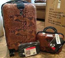 "Heys 22"" Spinner and Beauty Case Hardside Luggage Set F11209 SNAKE USED"
