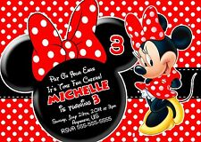 Red Minnie Mouse Birthday Invitations Print your own Minnie Party Supplies