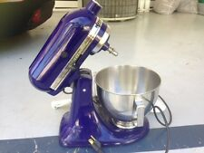 USED LITTLE KITCHEN-AID 300W TILT HEAD STAND 10-SPEED MIXER COBOLT BLUE