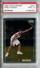 1998-99 Topps Chrome LARRY HUGHES RC #151 Philadelphia 76ers SP Mint PSA 9