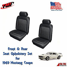 Front & Rear Seat Upholstery for 1969 Mustang by TMI Made in the USA! Ships Free