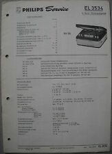 PHILIPS el3534 REGISTRATORE Service Manual, edizione 03/63