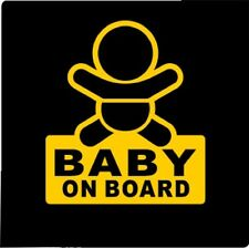baby on board / vinyl Car window  Decal Sticker / reflective yellow