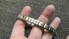 BIJORCA IRISH CLOVER LEAF BRACELET ARMBAND SILVER GREEN ST. PATRICKS DAY STRETCH