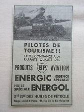 2/1933 PUB SOCIETE HUILE PETROLE BP AVIATION ESSENCE ARC-EN-CIEL COUZINET AD