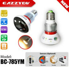 EazzyDV BC-785YM HD 720P E27 Bulb Lamp Camera Wifi P2P IP Home Surveillance New