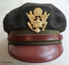 Repro WW2 Crusher Cap USAAF Army Air Force Officer's Elastique Dark OD 51 58cm
