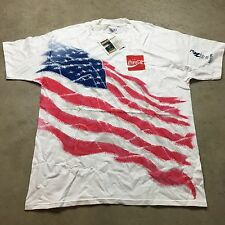 90s VTG NWT ATLANTA OLYMPICS 1996 XL Olympic USA FLAG Big Logo COCA COLA T Shirt