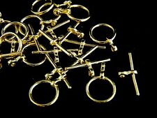 10 Pcs -  Gold Plated Round Toggle Clasps 17mm x 12mm Craft Findings Clasp i144