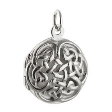 Celtic Knot Locket  - 925 Sterling Silver - Open Perfume Keepsake Birthstone NEW
