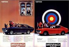 Two 1973 DATSUN 160J HARDTOP SSS and SEDAN Japanese brochures in English