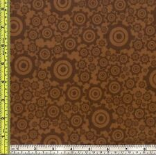 Steampunk Gear Bearing Part Riley Blake FLANNEL Cotton Sew Fabric ¼ yard 22.5 cm