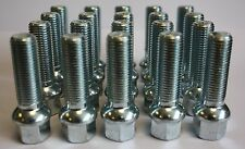 20 X M14X1.5 RADIUS 40MM LONG EXTENDED ALLOY WHEEL BOLTS FIT SEAT ALHAMBRA ALTEA