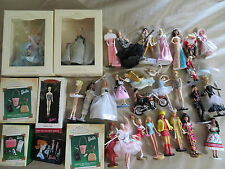 HUGE Lot 34 Barbie Hallmark Keepsake Ornament Lot Vintage Mod Elvis Ballet NR