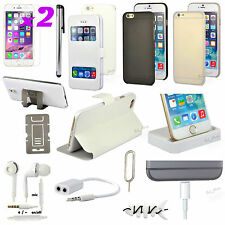 """13 in 1 Accessory Bundle Pack White Case Cover Dock Charger For iPhone 6 4.7"""""""