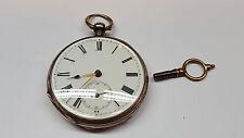 Antike Taschenuhr  800 er Silber Uhr Silberuhr mit Schlüssel