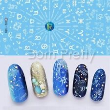 1Sheet Nail Art Water Transfer Decals Stickers Zodiac Numbers Pattern Decoration
