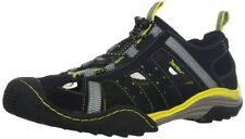 Jambu Men's Outrider Fisherman Sandal,Black/Yellow