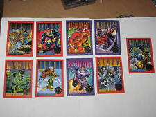 1993 X-MEN SERIES 2 30 YEARS GOLD FOIL STAMPED 9 CARD INSERT CHASE SET WOLVERINE